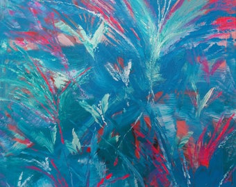 Abstract Tropical - Original painting by Kirsten Todd