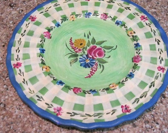 Decorative Hand Painted Plate by Artist Jane Ketinger