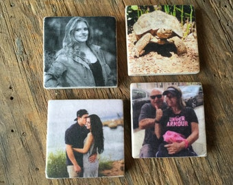 Personalized Stone Tile Magnets