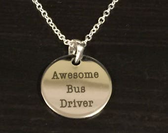 Awesome Bus Driver Necklace