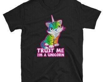 Women's Unicorn Shirt Caticorn Shirt Unicat Shirt Unicorn Cat Shirt Kitten Cat Lover Funny Unicorn Party Love Unicorns Unicorn Gift
