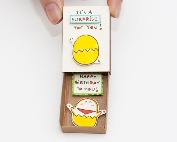 Funny Egg Birthday Card Matchbox Surprise Birthday Gift