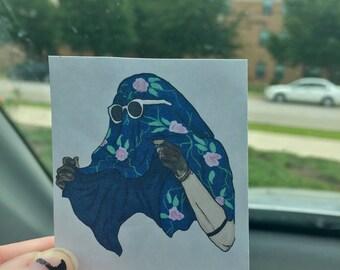 Floral Tyler Joseph Sticker / Print (TwentyOnePilots)