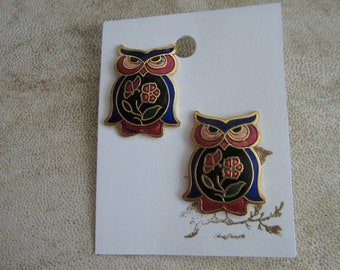 Vintage owl earrings