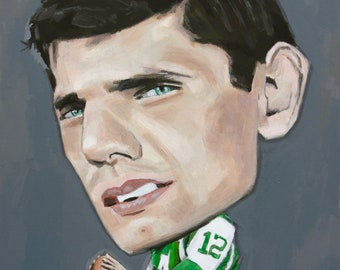 Joe Namath, New York Jets Original Painting