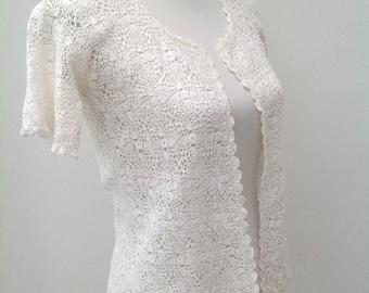 1930s Irish crochet jacket vintage antique