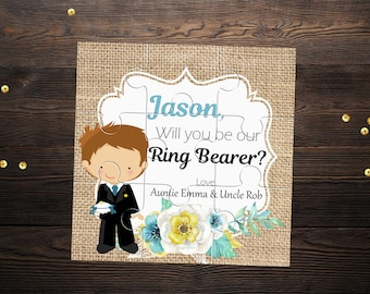 Will You Be My Ring Bearer Invitation Will You Be My Page Boy Personalised Proposal Gift Ask Ring Bearer Puzzle Invitation Usher Invitation