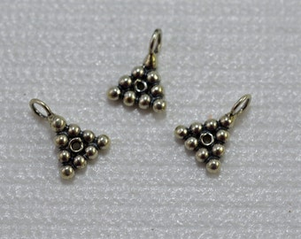 Antique silver plated dangle, 8mm - #1979