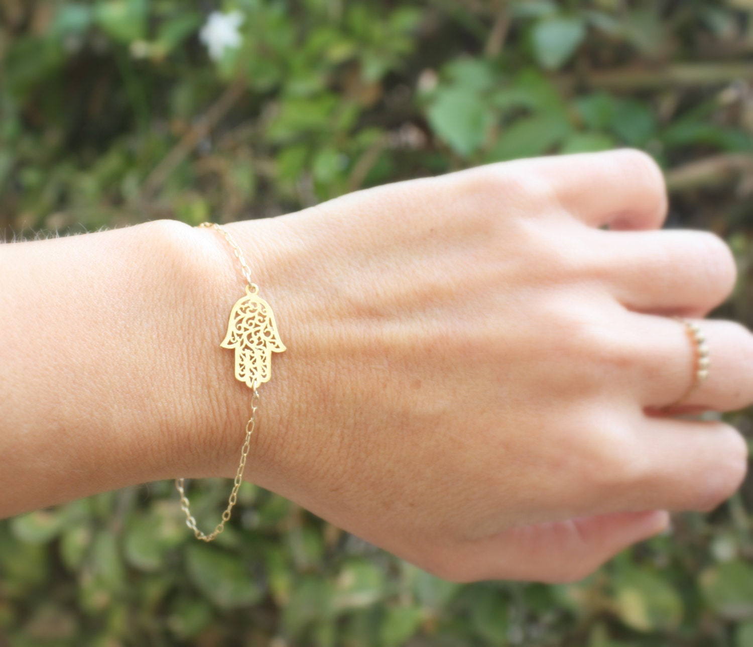 delicate stacking pin bangle dainty gold bracelet diamond alternative