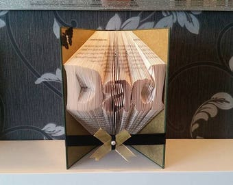 Dad - Folded Book Art