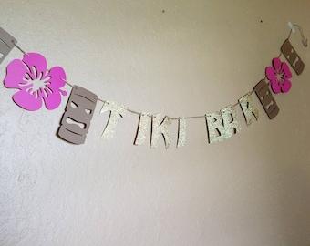 Tiki bar banner, tiki banner, tiki party, luau birthday, Hawaiian luau Party, Hawaiian party, tiki birthd, tropical party, tropical wedding,