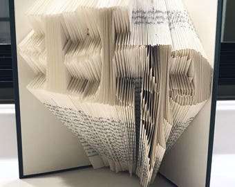 Harry Potter Inspired Folded Book Art