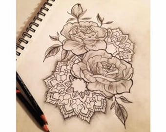 Tattoo Design 8x10 - CUSTOM