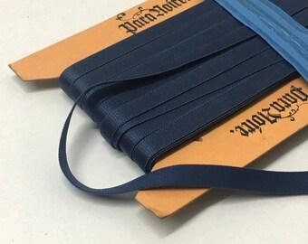 "7.6 m / 8.3 yds — satinized lingerie trim / bra strap elastic steelblue / blue grey — 10 mm / 3/8"" in wide"