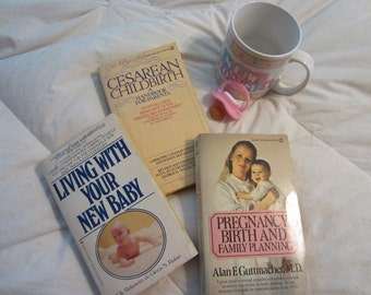 CLASSIC Vintage 3 Baby Books for Great Advice and Childcare Hints! (Set #11)  SALE 10% Off