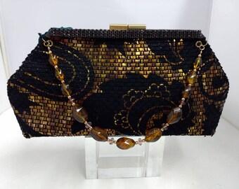 Clutch Purse Black & Gold