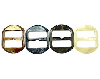 Old plastic belt buckles
