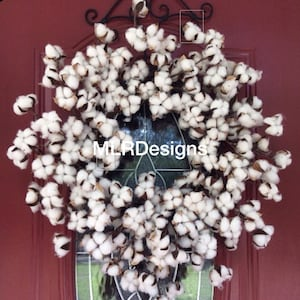 HGTV Magazine Wreath!  Cotton Wreath! , Farmhouse Wreath, 2nd Anniversary, Wedding, Mother's Da
