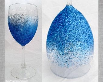 Ready to Ship: Dishwasher Safe Glitter Wine Glass