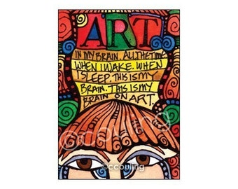 Art in my Brain - Inspiration for Artists - Journal Series ATC / Art Card / ACEO Print