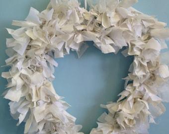 Wedding rag wreath