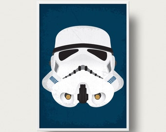 Star wars Stormtrooper Movie poster art Print Star Wars storm trooper movie poster Star Wars Empire strikes back movie star wars art movie