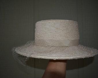 Vintage 1930-1940 Pinehurst Boater hat