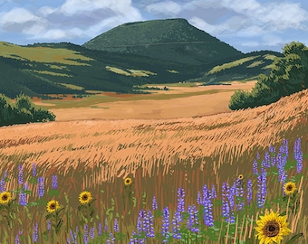 Capulin Volcano National Monument, New Mexico (Art Prints available in multiple sizes)