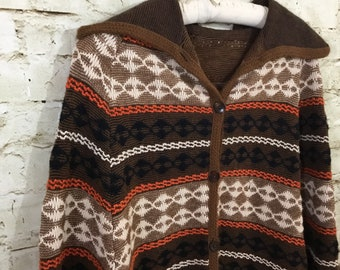 Real 70s Knit Poncho Union Label