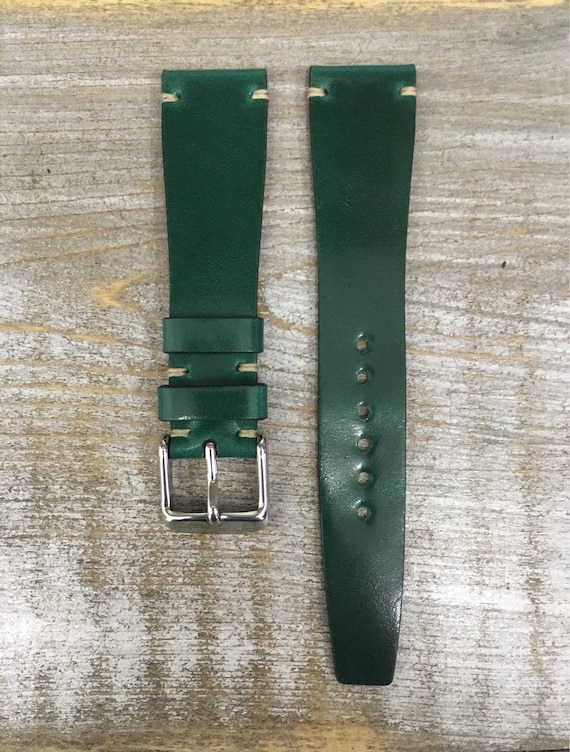 19/16mm Green VTG style Tuscany Shell Cordovan watch band