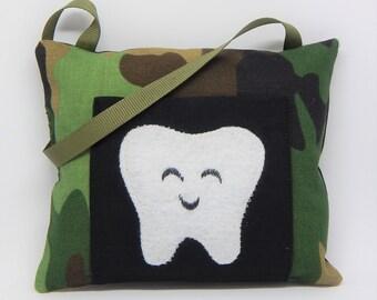 Green Camo Tooth Fairy Pillow