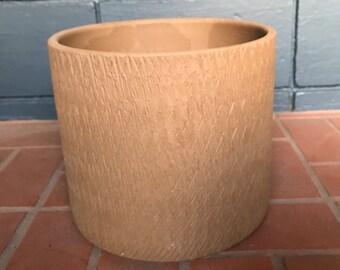 Mid Century Brown Texture Gainey Pot