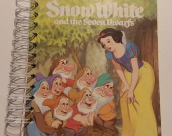 Snow White Recycled Children's Book Notebook, 112 Pages use for Junk Journal, Inspirational Journal, Smash Book, Walt Disney