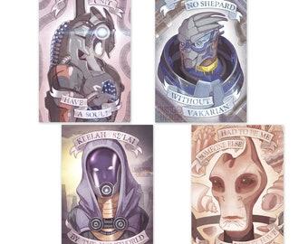 Mass Effect Legion Garrus Vakarian Tali Zorah Mordin Solis Tribute Poster Art Prints