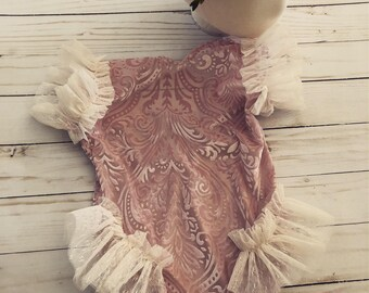 NEW release blush velvet sitter romper lace and blush romper set sitter session limited time pre order FREE shipping newborn photoprop