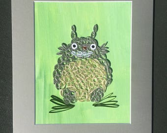 Paper Quilled Totoro