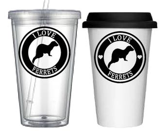 Cup:Ferret(4 designs to choose from!)