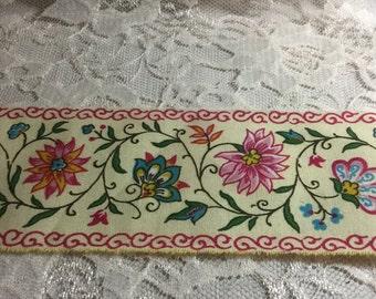 Easter Ribbon, Easter Trim, Easter Basket Ribbon,  Provence Design Ribbon, Flower Ribbon, French County Ribbon, Limited Edition Ribbon, ECS
