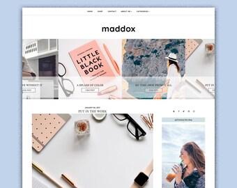 Maddox | Responsive Minimalistic Premade Blogger Template