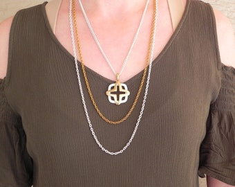 60s Multi-Chain Necklace