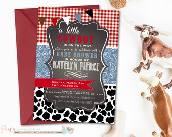 Cowboy Baby Shower Invitation, Paisley Baby Shower Invitation, Cowboy Baby  Shower, Western Baby Shower, Cow Print Baby Shower Invitation