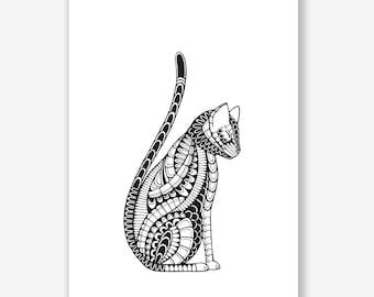 Art Print Cat Cat