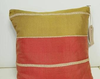 Handwoven pillow case