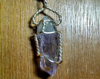 Beautiful Amethyst natural crystal pendant
