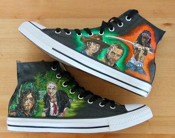 The Walking Dead Hand-painted Original Design Hi-Top Converse
