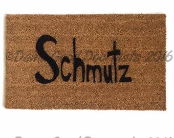 Schmutz funny doormat Jewish Judaica yiddish hanukkah chanukkah door mat eco friendly outdoor