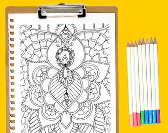 Henna Coloring Page Download