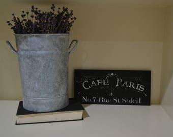 """Cafe Paris Sign 5.5""""X12"""""""