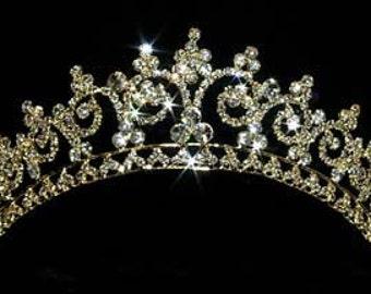 Gold Contoured Princess Tiara #11438G