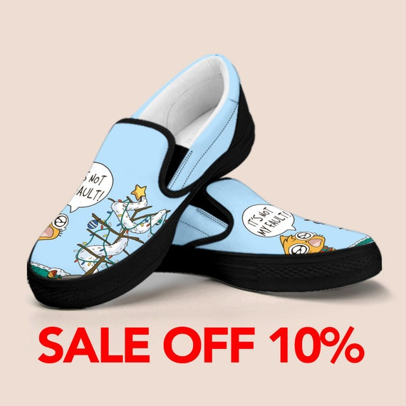 Custom Slip Cat Gift Shoes Kid Cute Cat Cat Cute Kid Cat Vans Custom Shoes For Cat Slip Custom Vans on Shoes Custom Kid Shoes On qZgTnwvPx